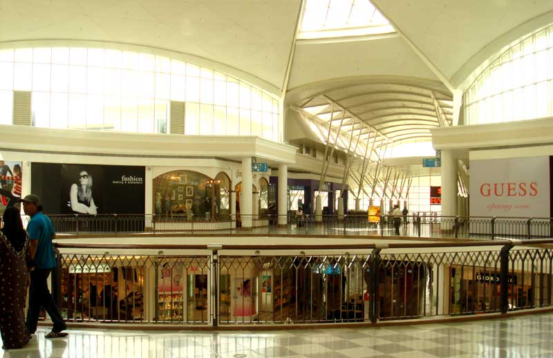 View inside Alamanda shopping centre in Putrajaya