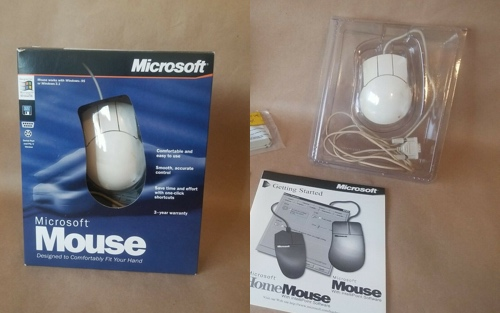 A dodgy mouse listing showing an entirely different mouse stuffed into the wrong box.