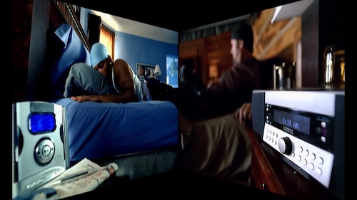Photo from the music video showing Nelly's alarm clock that resembles an MP3 player, and Tim's high end early-2000s Hi-Fi alarm clock.