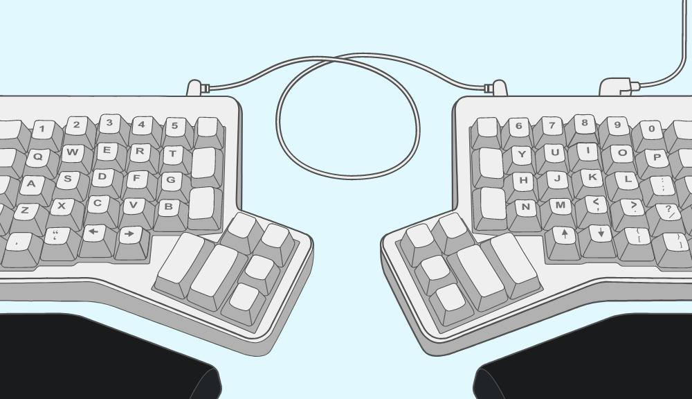 The Rubenerd ErgoDox keyboard!