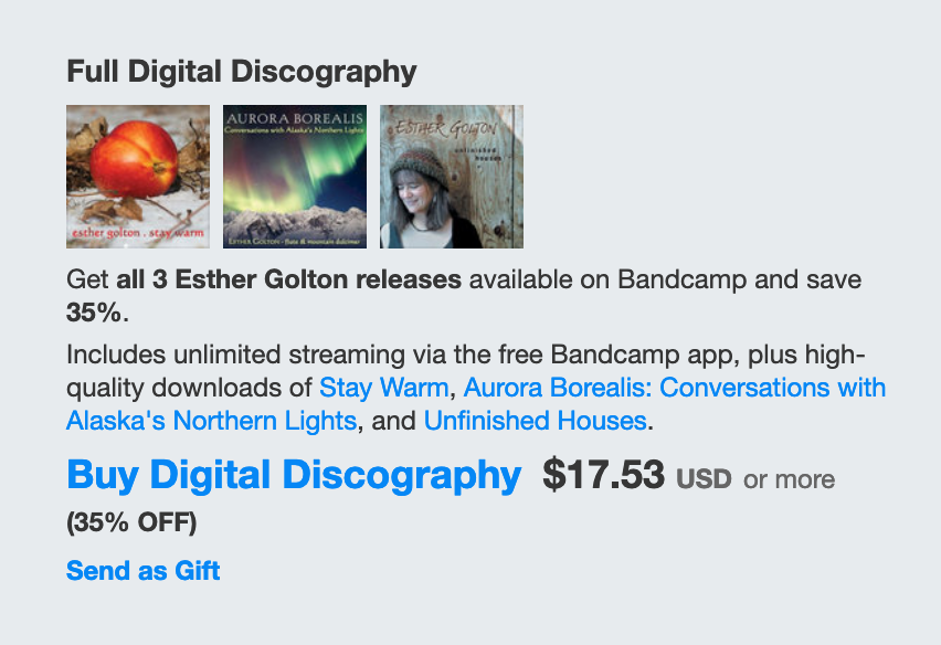 View Esther's discography in Bandcamp