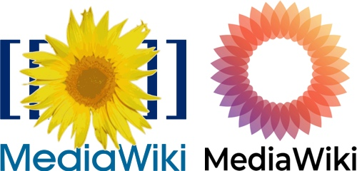 The old (left) and new (right) logo.
