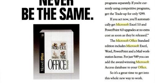 Advertisement showing Office 4.0 Standard