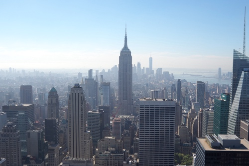Photo from The Top of The Rock I took with Clara on one of our US trips.