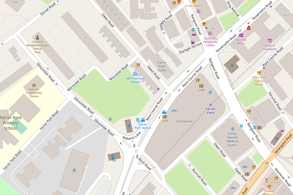 Map from OpenStreetMap