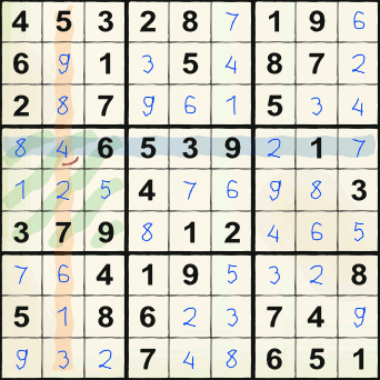 Sudoku puzzle for 2011-09-07