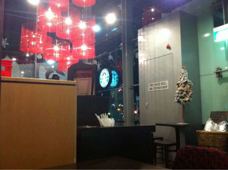 Photo sitting in Starbucks with an hour left in 2010.