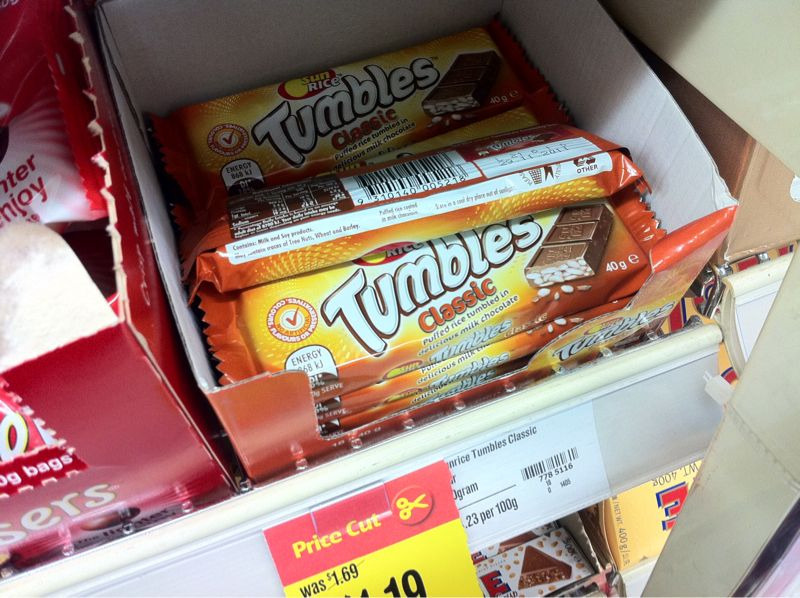 Photo of some Tumbles confectionary