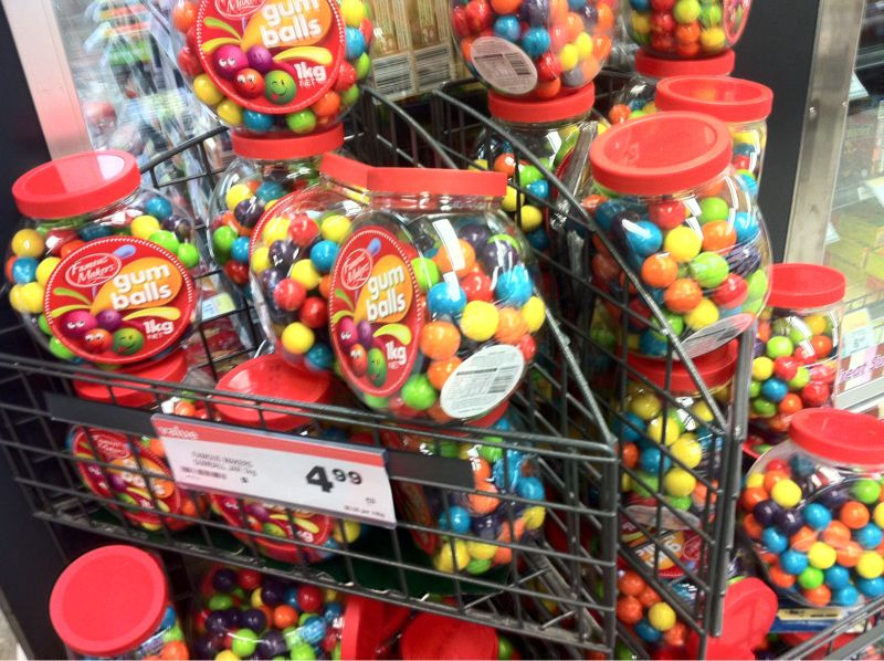 Photo of confectionary at a supermarket that may or may not be Benson