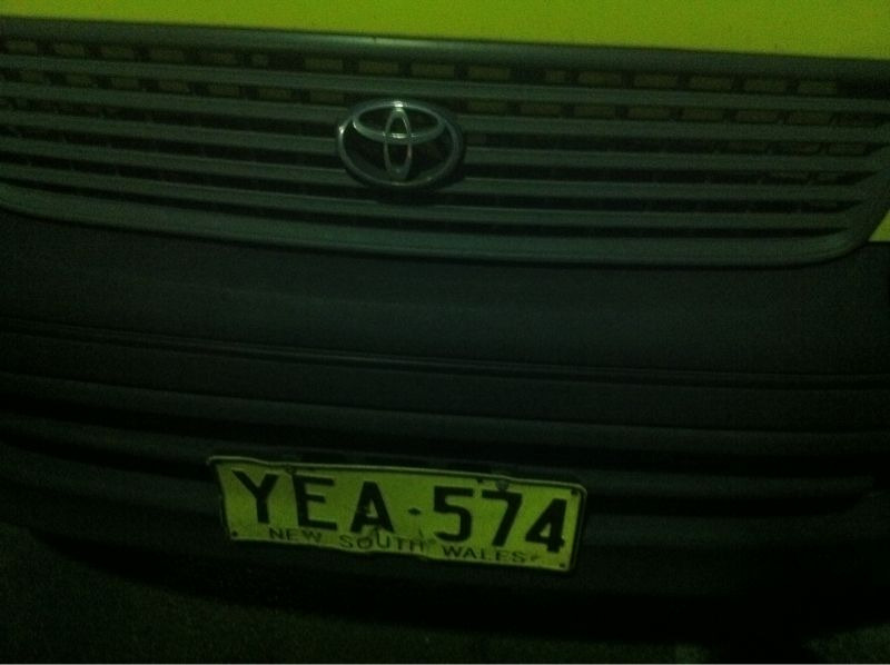 Licence plate: YEA-574