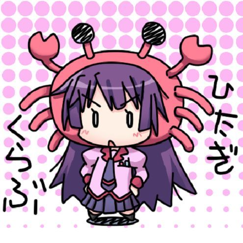 Inexplicable fan art of Best Girl from Bakemonogatari with a crab head dress