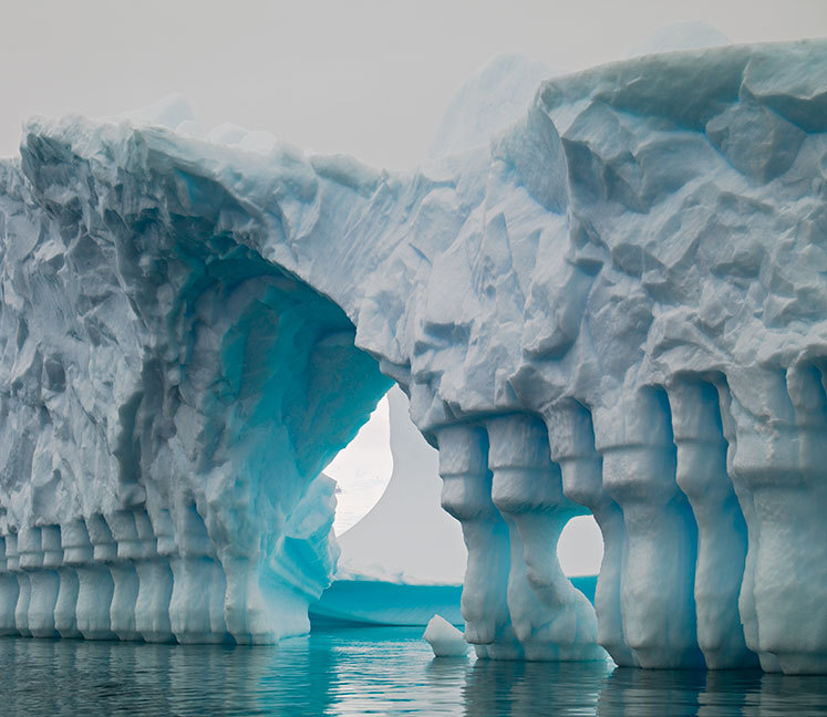 Photo of a crazy carved iced bridge!