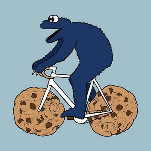 Cookie Monster cookie bike