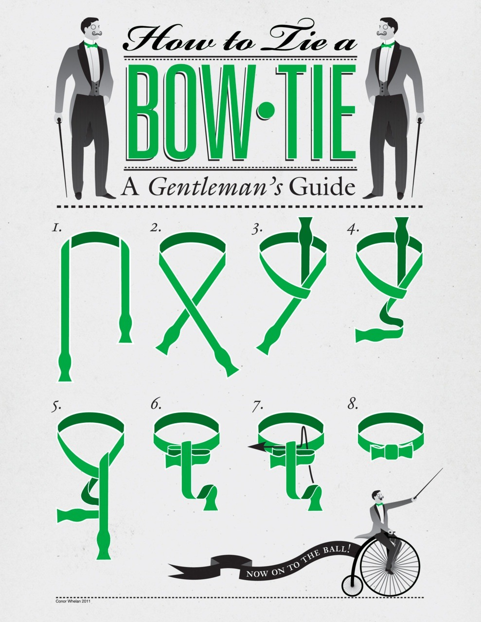 Steps for how to tie a bow tie, like a gentleman