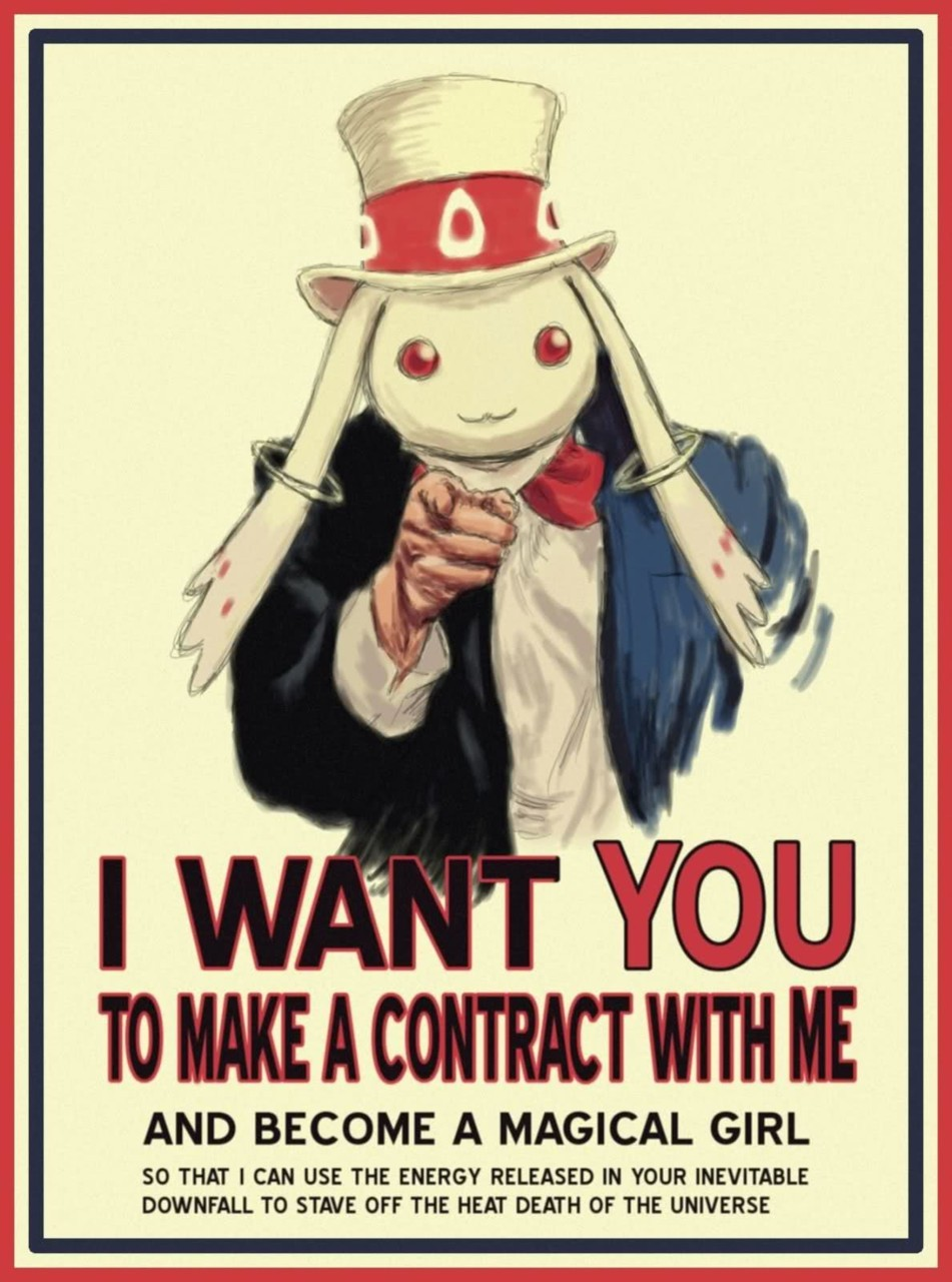 I want you to make a contract with me, and become a magical girl.