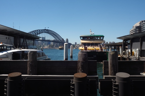 And our ferry at Circular Quay pier.