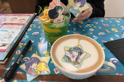 Photo showing our anime-themed beverages!