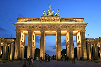 Photo of the Brandenburg Gate, by Thomas Wolf on Wikipedia