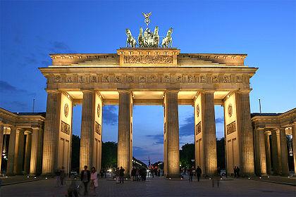 Photo of the Brandenburg Gate, by Thomas Wolf on Wikipedia