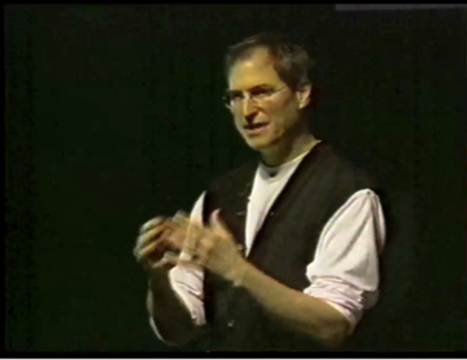 Steve Jobs at the 1997 Macworld Expo