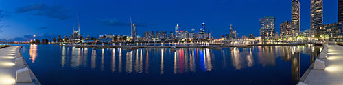 The Melbourne Docklands in 2006, by Diliff on Wikipedia