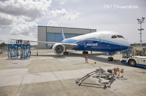 The Boeing 787 Dreamliner, photo copyright Boeing