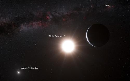 Artist's impression of Alpha Centauri