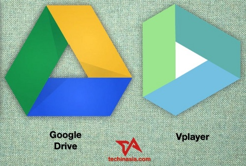 Comparison of Google Drive's icon next to Vplayer, which is basically copied.