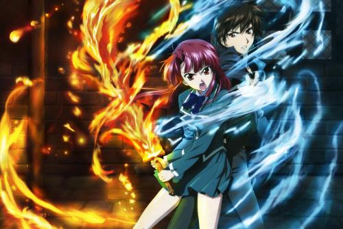 Yagami Kazuma and Kannagi Ayano from Kaze no Stigma