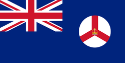 Flag of Colonial Singapore, as it were