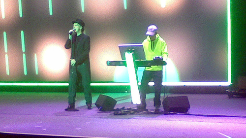Photo of mine of the Pet Shop Boys in Singapore, 2007