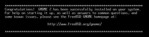 Gnome installed on FreeBSD