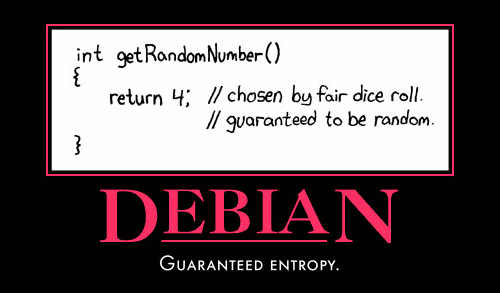 Debian security motivational poser