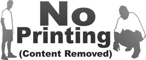 No printing!