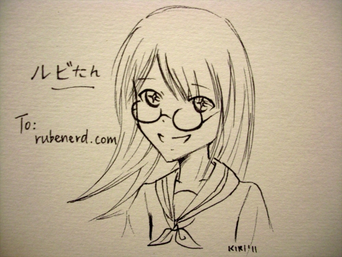 Hanezawakirika's drawing of Ruby-tan