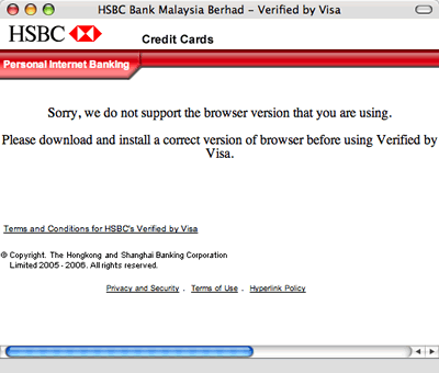 HSBC Camino Error