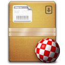 The Unarchiver with the Amiga beachball