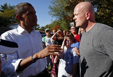 Joe the Plumber with President Barack Obama