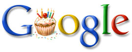 Google birthday logo