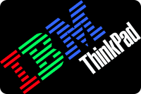 Retro IBM ThinkPad logo