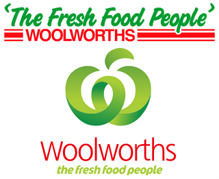 Old and new Woolworths logos