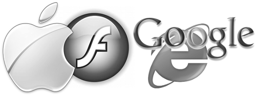 Apple with Flash, Google with Internet Explorer 6