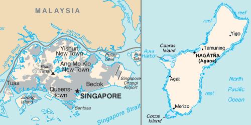 Singapore and Guam