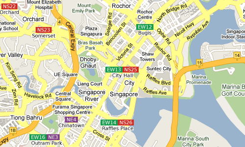 Rochor and surrounds in The Singapore