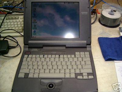An old Compaq laptop.