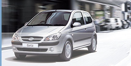 Photo of the 2004 Hyundai Getz, which looks almost exactly the same
