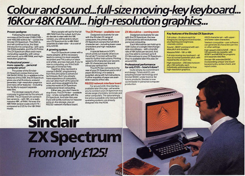 Sinclair ZX Spectrum print advertisement!