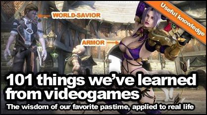 101 things we've learned from video games