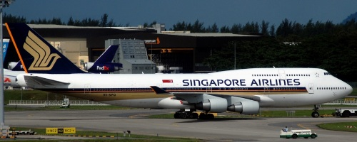 Boeing 747-400 series Singapore Airlines