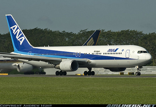 ANA 767-381ER at Singapore Changi Airport, by Andrew Hunt